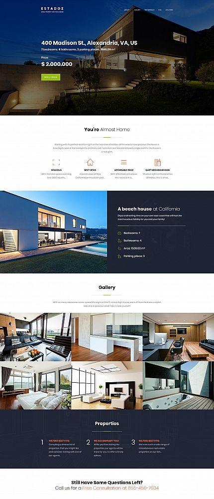 Estadoz Real Estate Business Moto Cms 3 Template Real Estate Web Design Real Estate Website Design News Web Design