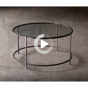 Kerner Demilune Console Table Plateau En Verre Decoration Salon Console