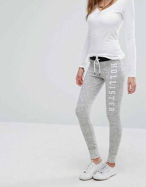 clientes primero seleccione para el último descubre las últimas tendencias Pantalón de chándal con logo en la cinturilla de Hollister ...