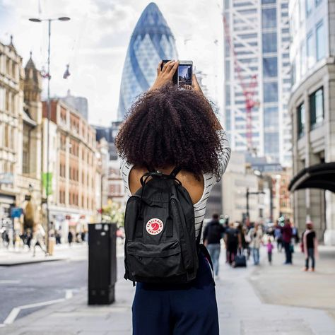 Fjallraven Kanken Classic Black Backpack | Urban Outfitters | Women's | Accessories | Bags & Purses via @freshlengths #UOEurope #UrbanoutfittersEU #UOonYou