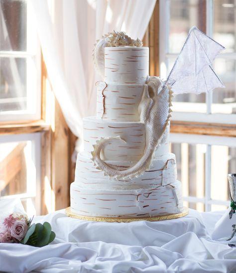 Fairytale Dragon Wedding Cake WC106 Confection Perfection Atlanta GA