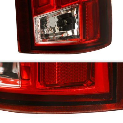 Chevy Silverado 1988 1998 Tube Led Tail Lights Red In 2020 Led Tail Lights Chevy Silverado Tail Light