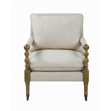 Rosalind Wheeler Upholstered Accent Chair Beige Wayfair