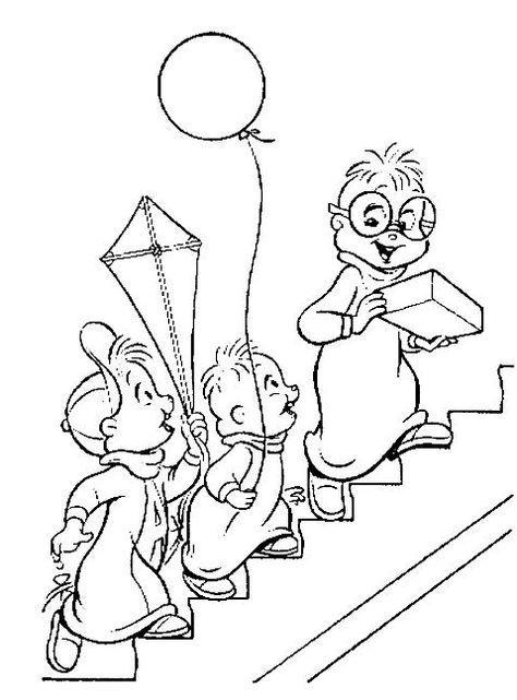 Alvin E Os Esquilos Alvin E Os Esquilos Desenhos Para Pintar