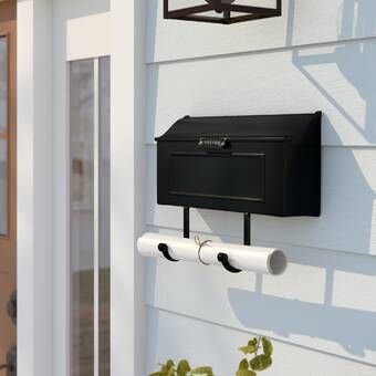 Postino Wall Mounted Mailbox With Images Wall Mount Mailbox Mounted Mailbox