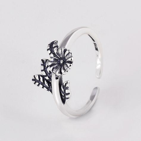925 Sterling silver flowers rings