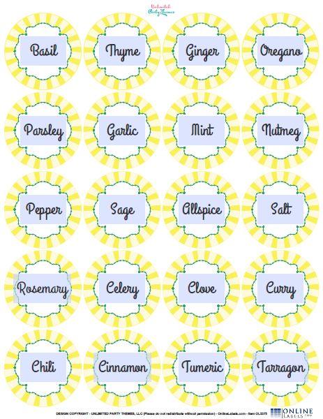 kitchen spice labels stuff to make it pinterest spice labels