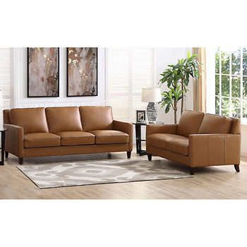 West Park 2-piece Top Grain Leather Set - Sofa, Loveseat in 2019 ...