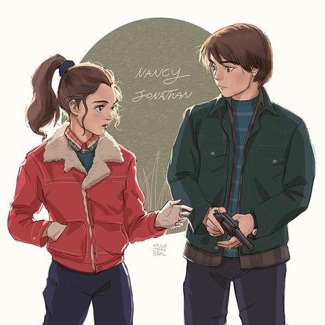 Stranger things: Nancy and Jonathan by Janenonself on DeviantArt