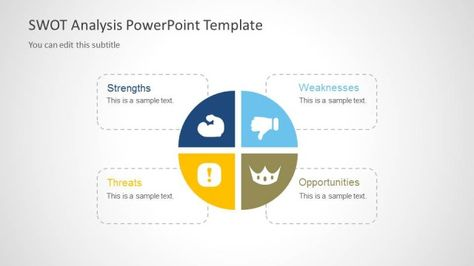 D Perspective Business Model Canvas Powerpoint Template