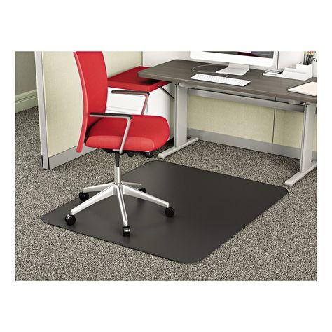 Deflect O 45 X 53 Supermat Black Chair Mat For Medium Pile Carpet