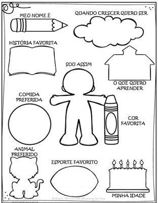 Atividade Em Portugues E Ingles De Volta As Aulas Sobre Mim Com