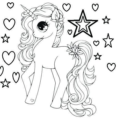 Pagina Para Colorear Unicornio Para Dibujos Para Colorear De