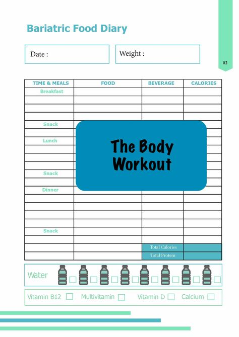 Bariatric Weight Loss Package Exercise Log Strength Training Diary