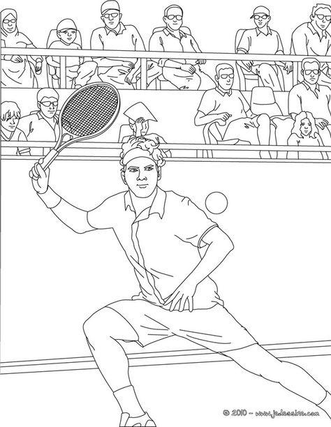 tennis kleurplaat kleurplatenl