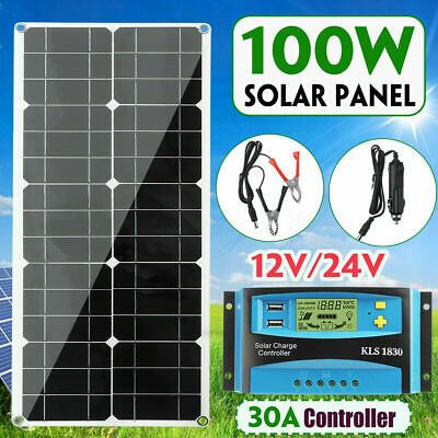 Details About 100w 18v Dual Usb Flexible Solar Panel Battery Charger Kit Car Boat Controller Flexible Solar Panels Solar Panel Battery Solar Panels Roof