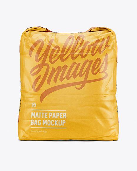 Download 5 Kg Matte Paper Bag Mockup Front View In Bag Sack Mockups On Yellow Images Object Mockups Bag Mockup Mockup Free Psd Mockup Psd