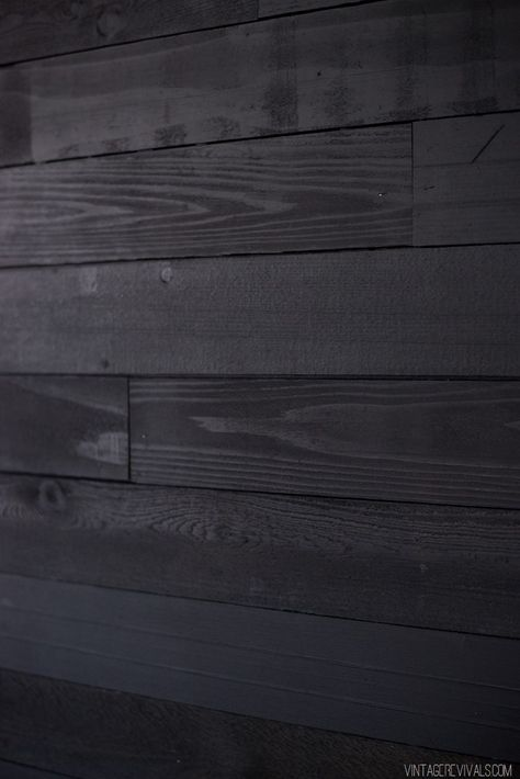 Come to the Dark Side JoJo: How to DIY Black Shiplap