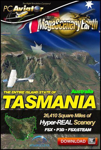 MegaSceneryEarth 3 - Tasmania, Australia (FSX/FSX:SE/P3Dv1
