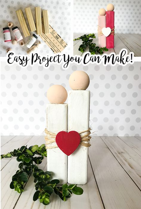 Couple Love - Rustic decor for Valentines Day or as a cute gift - easy craft that you can make! gift easy Rustic Love - DIY Craft for Valentine's or as a Present to a Couple Diy Valentine's Day Decorations, Valentines Day Decorations, Valentine Day Crafts, Holiday Crafts, Decor Ideas, Valentines Day Desserts, Ideas For Valentines Day, Valentines Day Decor Rustic, Handmade Valentine Gifts