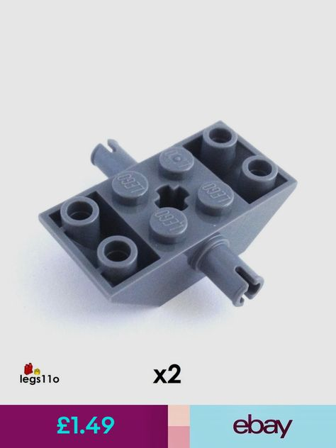 New LEGO Lot of 12 Dark Bluish Gray 1x2 Flat Plate Pieces from 7910 9474 9473