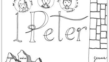 2 Peter Bible Book Coloring Page Ministry To Children Com