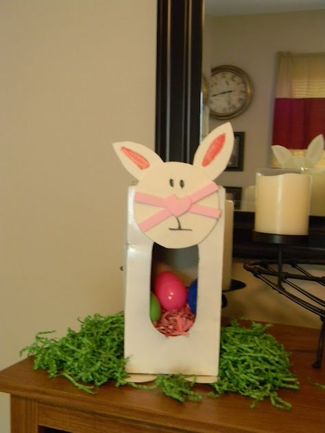 Tissue Box Easter Bunny Craft for Kids