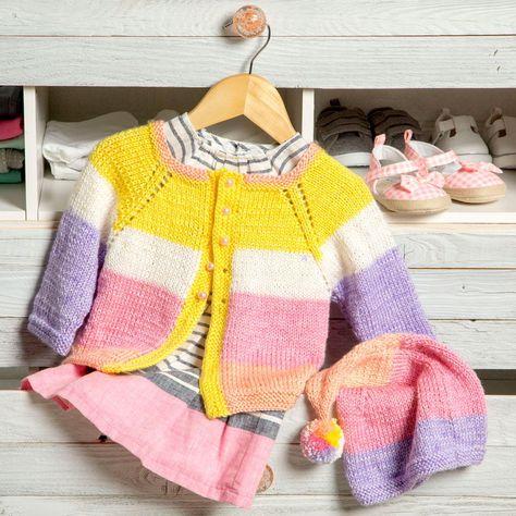 57d9d78cb3ae DK colors pixie cardigan and hat set - DIY kids clothes - DIY ...