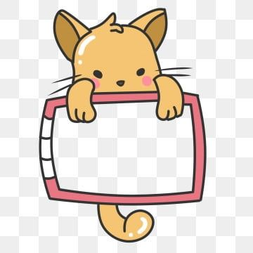 Cute Animal Cat Cartoon Border Cat Lovely Animal Png Transparent Clipart Image And Psd File For Free Download Cat Background Cat Vector Cute Little Animals