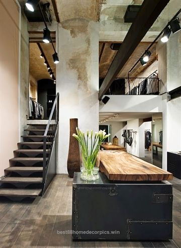 Excellent Modern Rustic Loft Living The Post Modern Rustic Loft Living Appeared First On Home Loft Design Interior Architecture Design Interior Architecture
