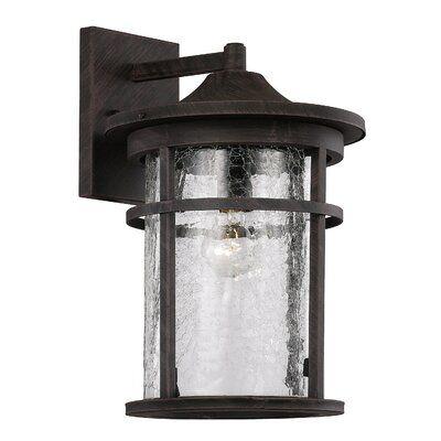 Ilene 1 Light Outdoor Wall Lantern Finish Rust Size 17 75 H X 11 W X 12 25 D In 2020 Bel Air Lighting Wall Lantern Outdoor Wall Lantern