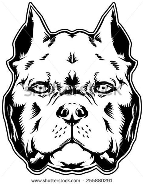 Image Result For American Bully Outline Art Pitbull Drawing Dog