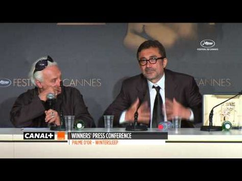 ▶ Cannes 2014 - Palme d'Or WINTER SLEEP - Press conference - YouTube