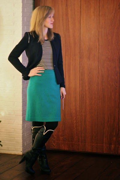 Work it: Workin' stripes in the morning Style - Fashion - Wear to Work