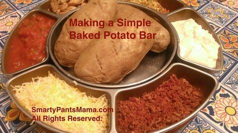 Simple Baked Potato Bar