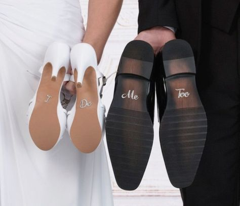 These Rhinestone Wedding Shoe Stickers make such wedding day photos. Get them in Blue to make them your something blue. #somethingblue #wedding #shoes #stickers #photos #photography #ideas #bride #groom
