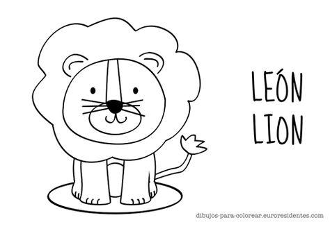 Leon Infantil Para Colorear Con Immagini