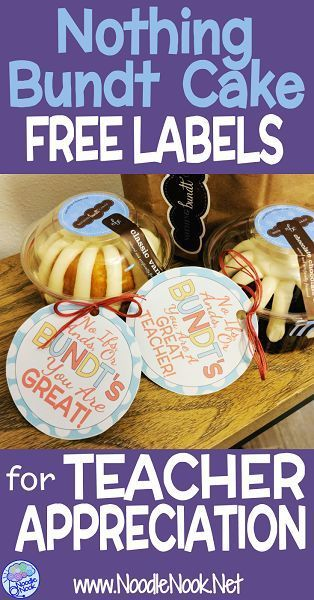 photograph about Nothing Bundt Cakes Coupons Printable known as Instructor Appreciation with Nothing at all Bundt Cake TpT Totally free