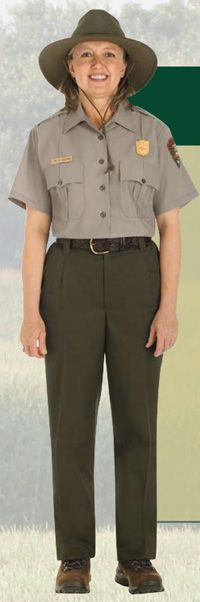 forest service since the 1950s, and the green is highly distinctive, a rather unusual hue that no sane person would choose for their own vehicles. Vintage National Park Service Uniform Short Sleeve Shirt 42 Men S Clothing Clothing Valresa Com