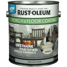 Gallon Dove Gray Satin Porch Floor Urethane Finish Ideal For Use On Wood Concrete Is Scuff Scrape Resistant Porch Flooring Floor Coating Rustoleum