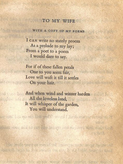 To My Wife Written By Oscar Wilde In 1881 For His Wife