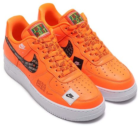 new concept 7b7eb 4e8a3 NIKE AIR FORCE 1 07 PRM JDI Just Do It  TOTAL ORANGE   TOTAL ORANGE-BLACK-WHITE   ar7719-800