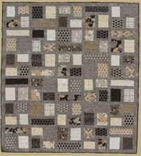 Ob-La-Di Quilt Pattern by Abbey Lane Quilts at KayeWood.com. A beautiful combination of squares and rectangles surrounded by a grey background.  This is a modern, elegant quilt that will fit in any décor. http://www.kayewood.com/item/Ob_La_Di_Quilt_Pattern/3319 $9.50