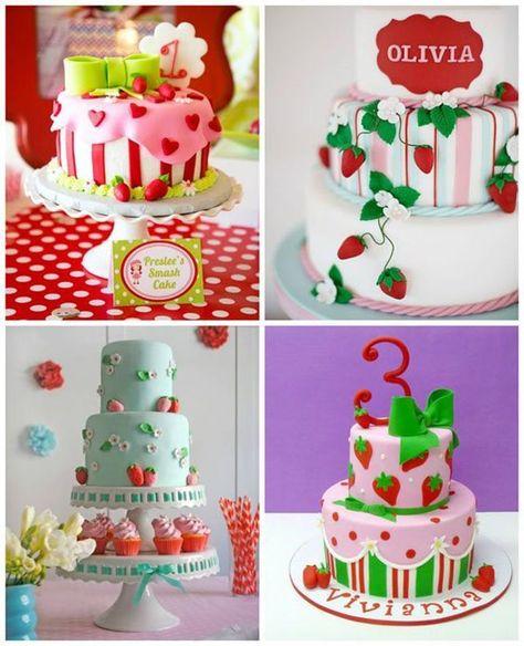 Nessa imagem temos 4 modelos lindos de bolos encantadores para você se inspirar na hora da escolha definitiva. Imagem Pinterest