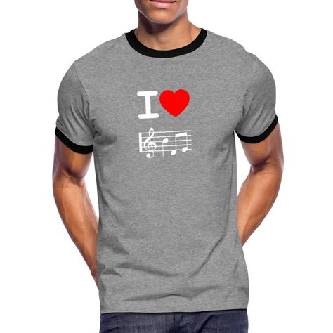 Casual fitting T-shirt for men with contrasting crew neck and sleeves. 100% cotton. Brand: Spreadshirt