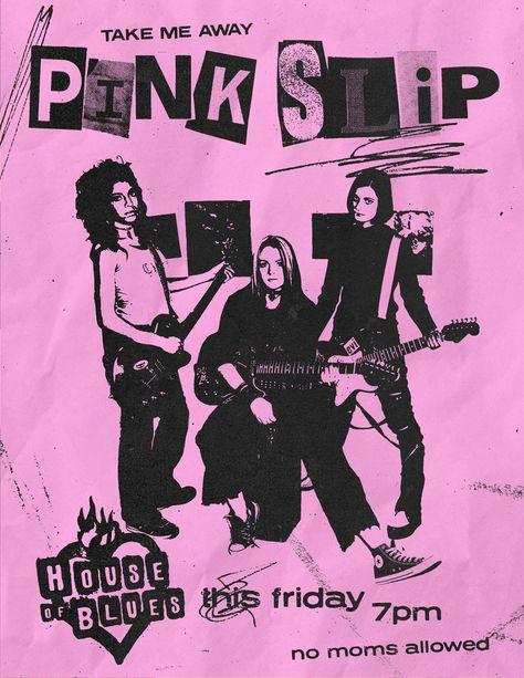 Pink Slip Concert Poster (Freaky Friday, 2003)