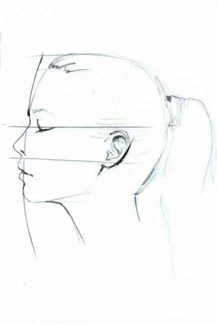 Drawing Reference Profile Female Faces 52 Best Ideas Profile Drawing Face Drawing Drawings