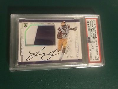 2017 Panini National Treasures Leonard Fournette Rookie Patch Auto 25 Lsu Psa 7 Rookiecard Rookiepatchauto Psa National Treasure Leonard Patches