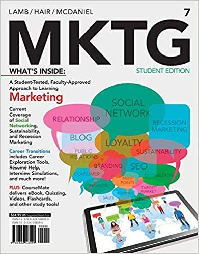 Mktg 7 7th Edition By Charles W Lamb Career Transition Blog Marketing Free Books Online