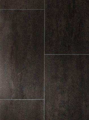 Sol vinyle Imitation carrelage noir Authentic melbourne noir - Saint